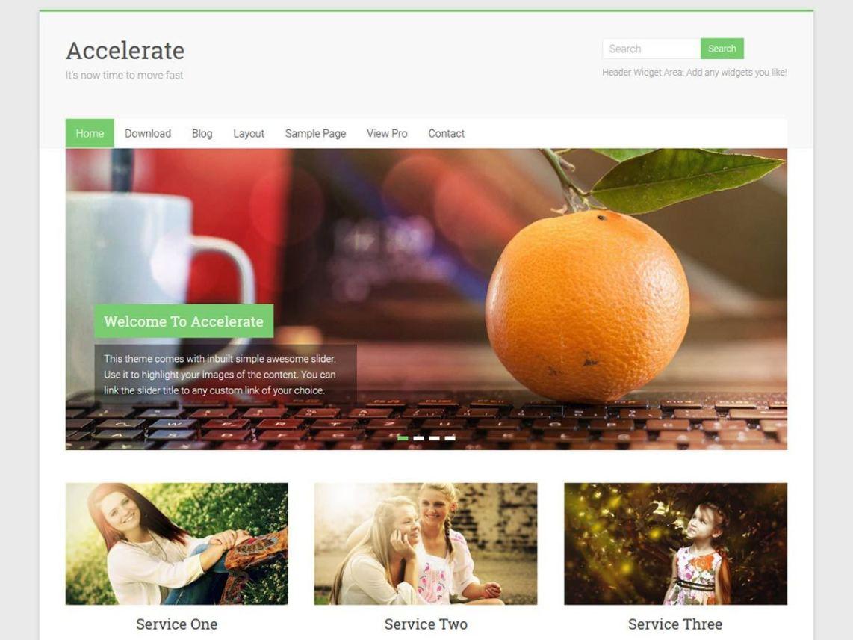 WordPress Theme Accelerate