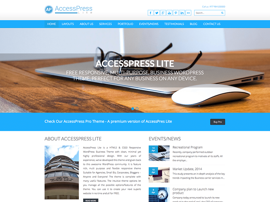 WordPress theme accesspress-lite