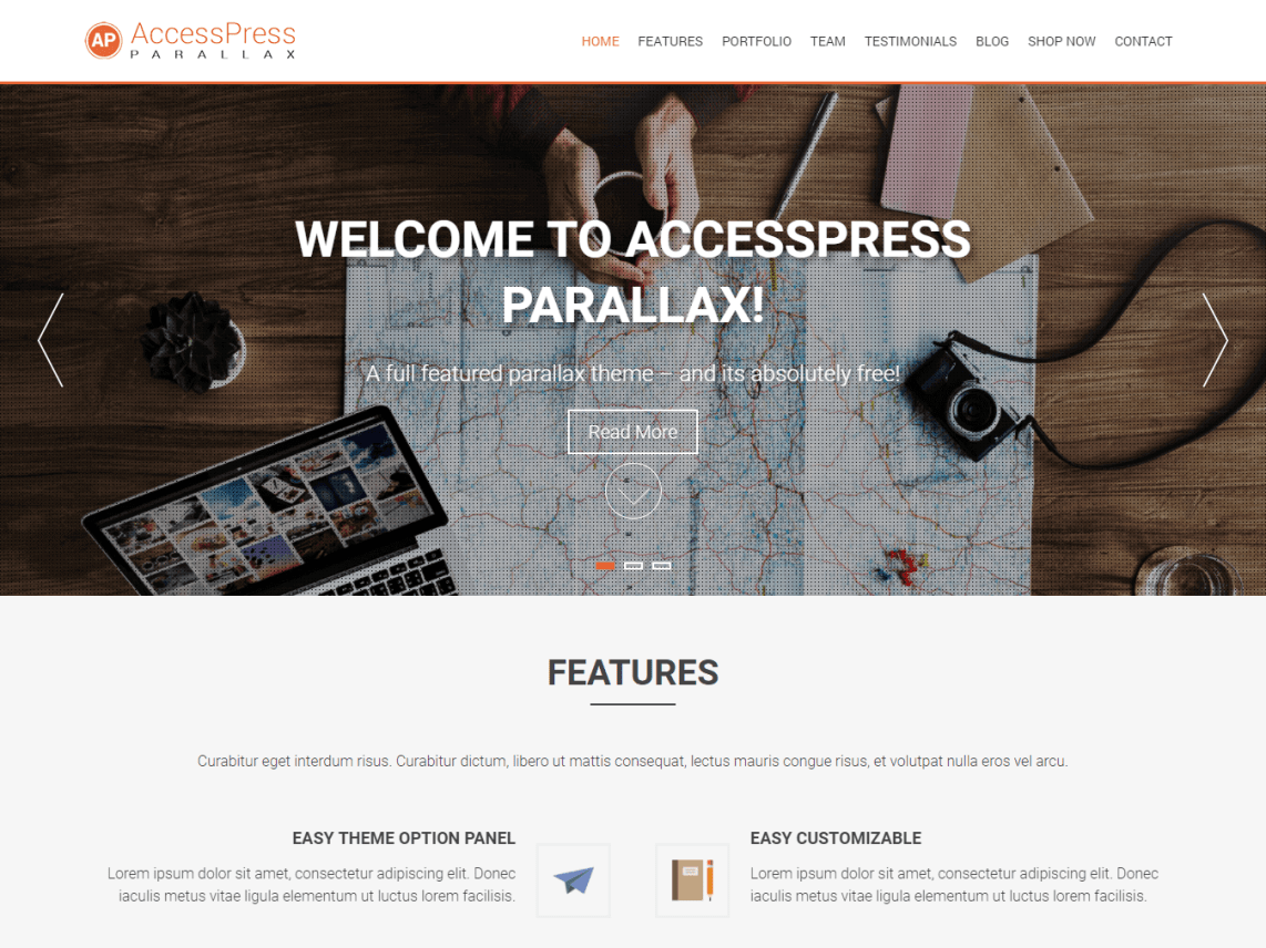 WordPress Theme AccessPress Parallax