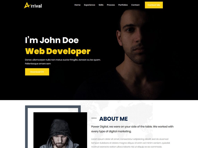 WordPress theme arrival-me