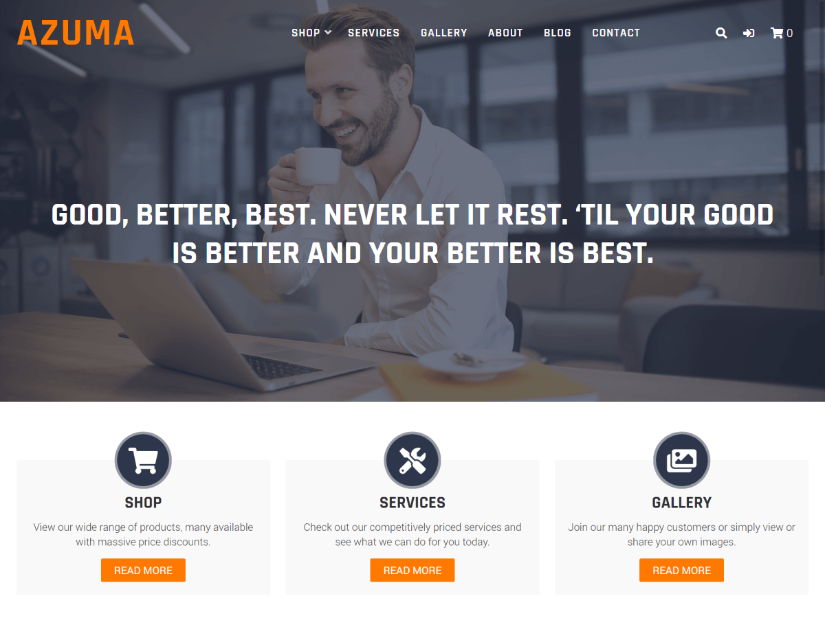 WordPress theme azuma