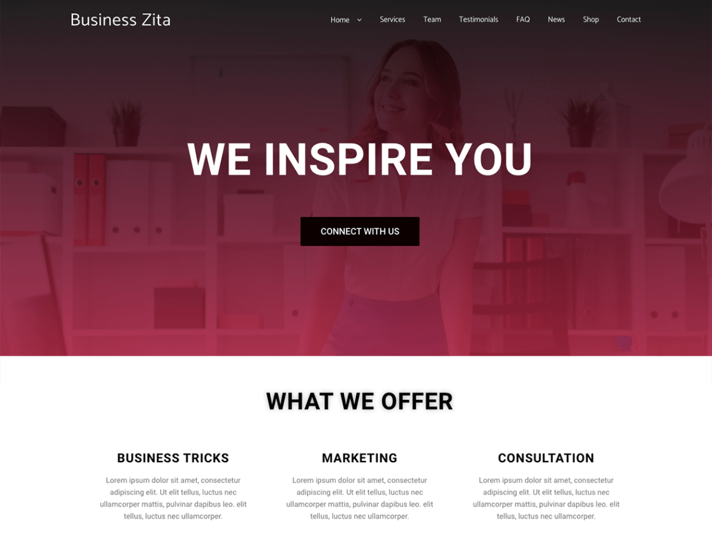 WordPress theme business-zita
