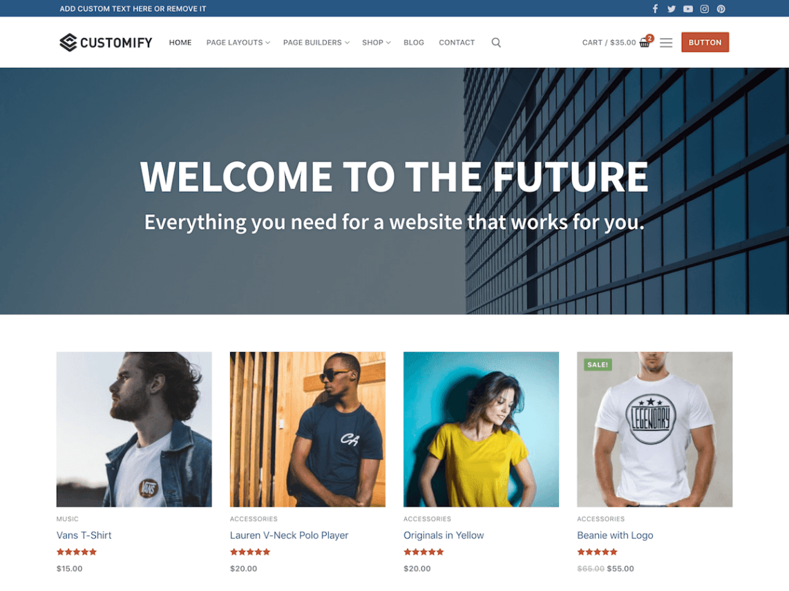 WordPress theme customify