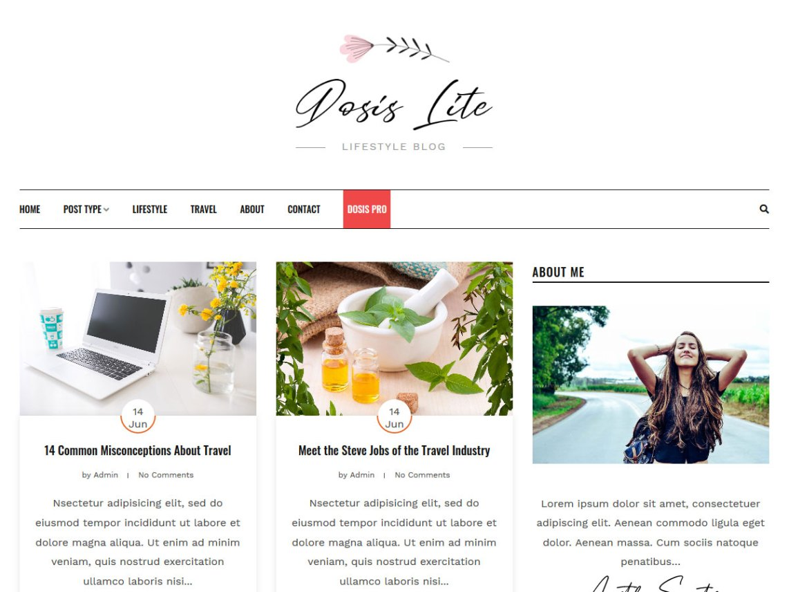 WordPress Theme Dosislite