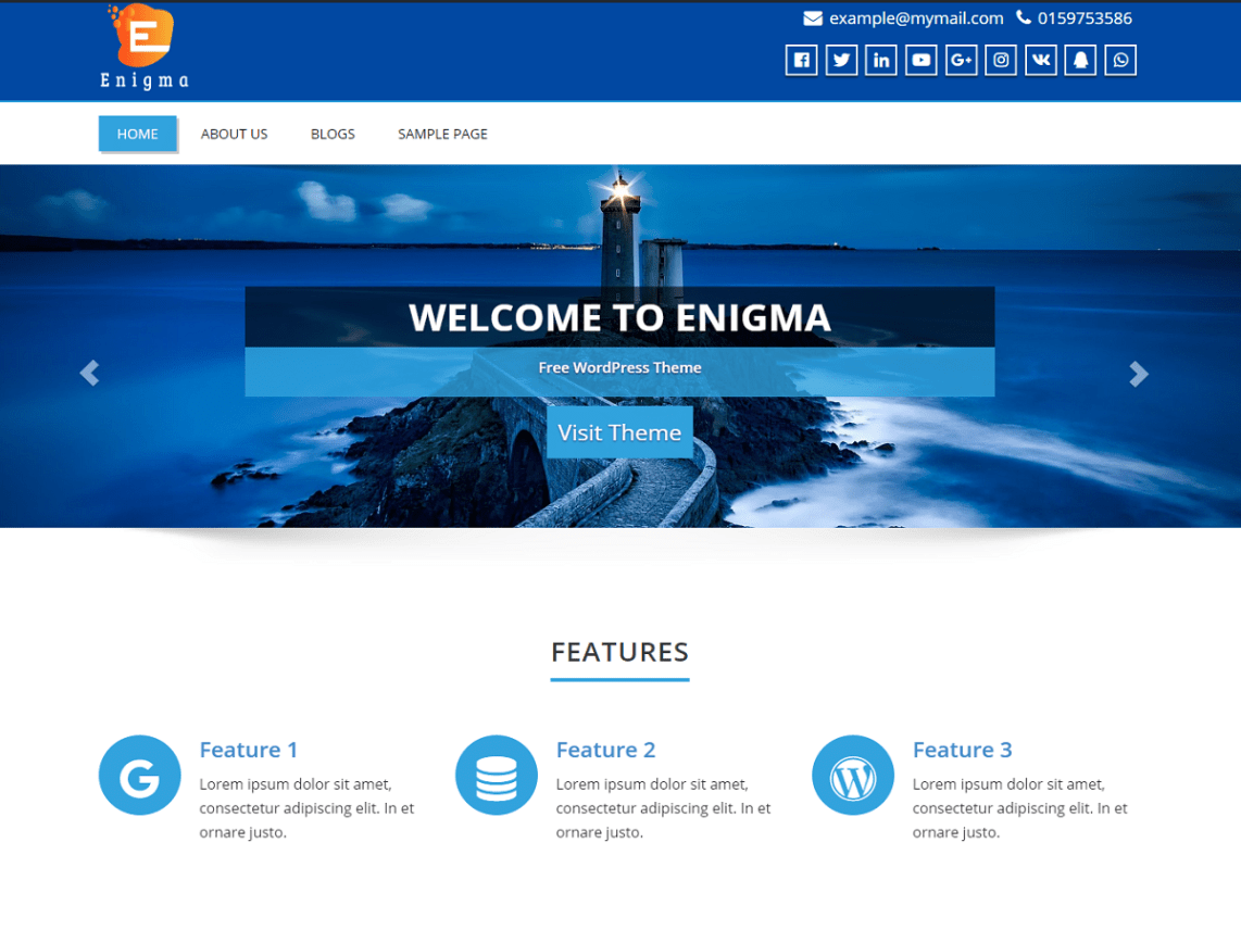 WordPress theme enigma