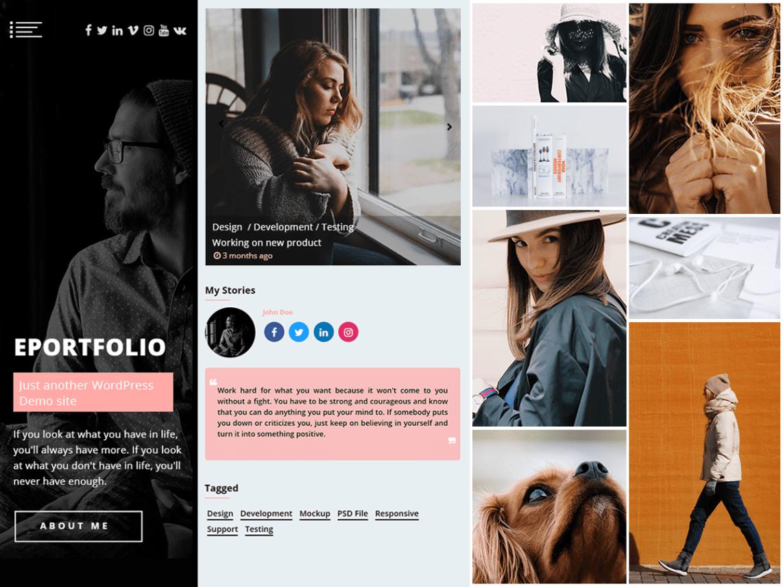 WordPress theme eportfolio
