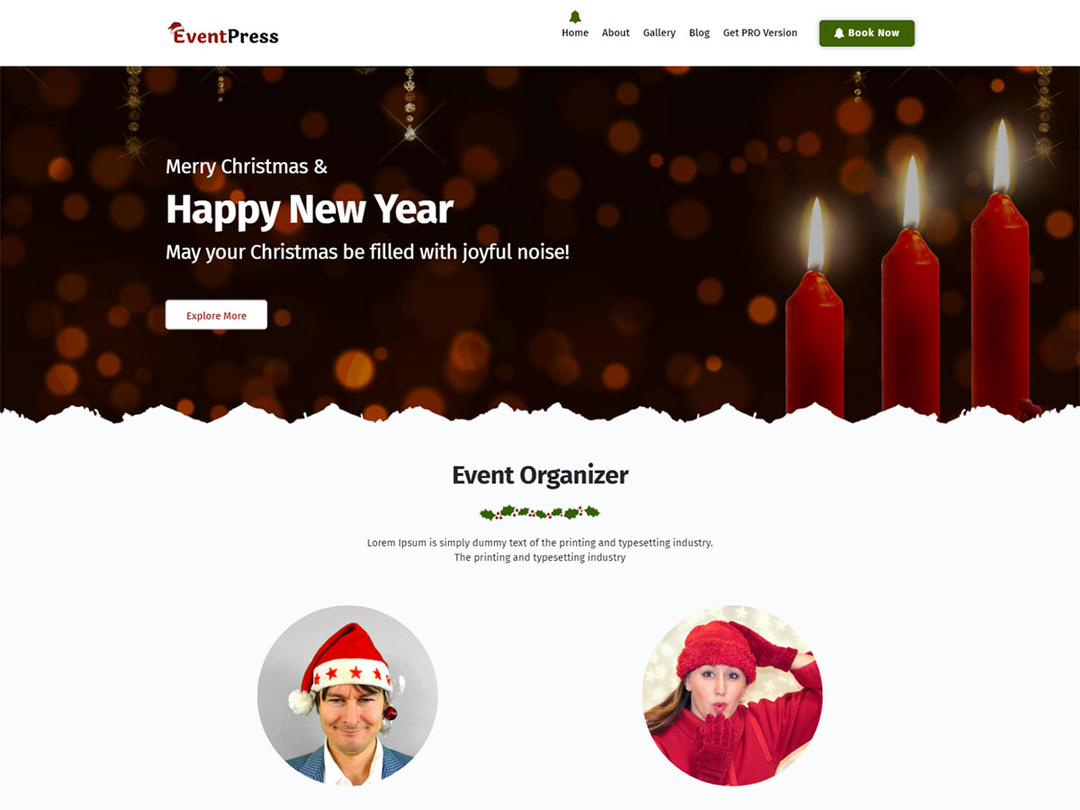 WordPress theme eventpress