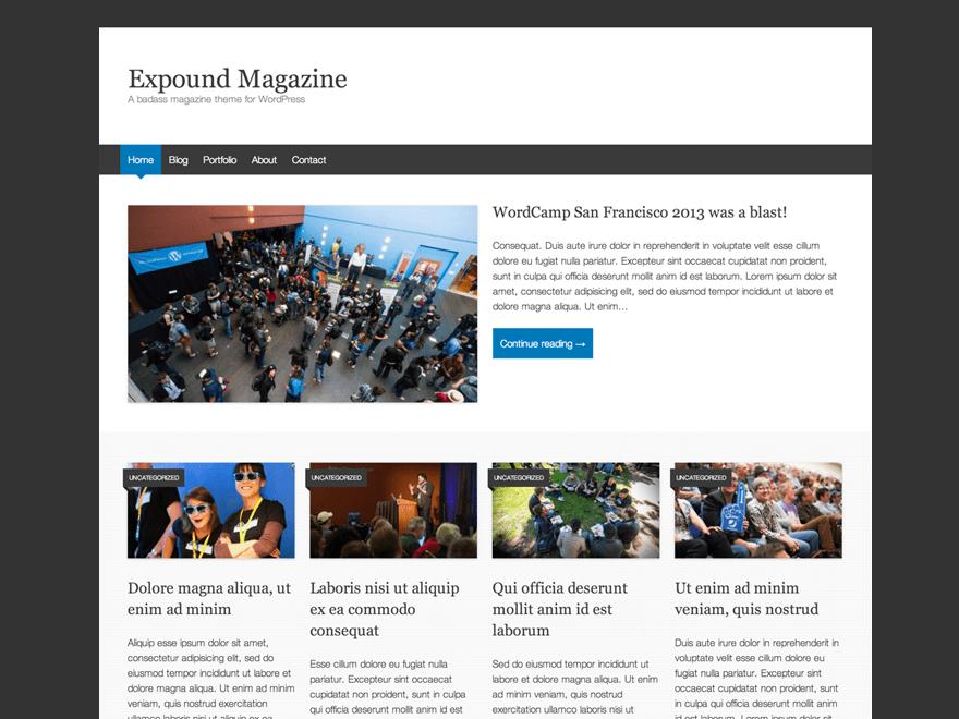 WordPress Theme Expound