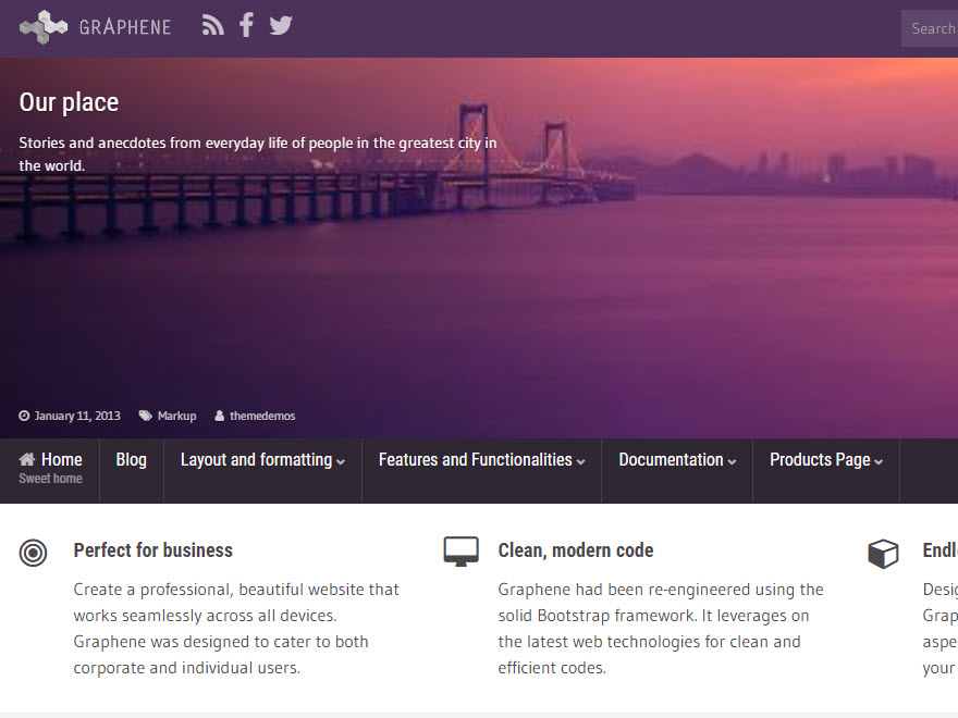 WordPress theme graphene