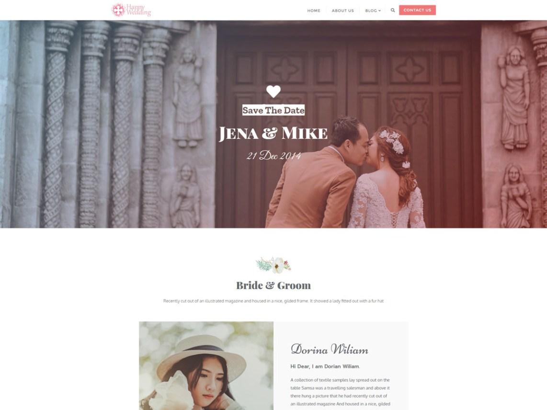 WordPress Theme Happy Wedding Day