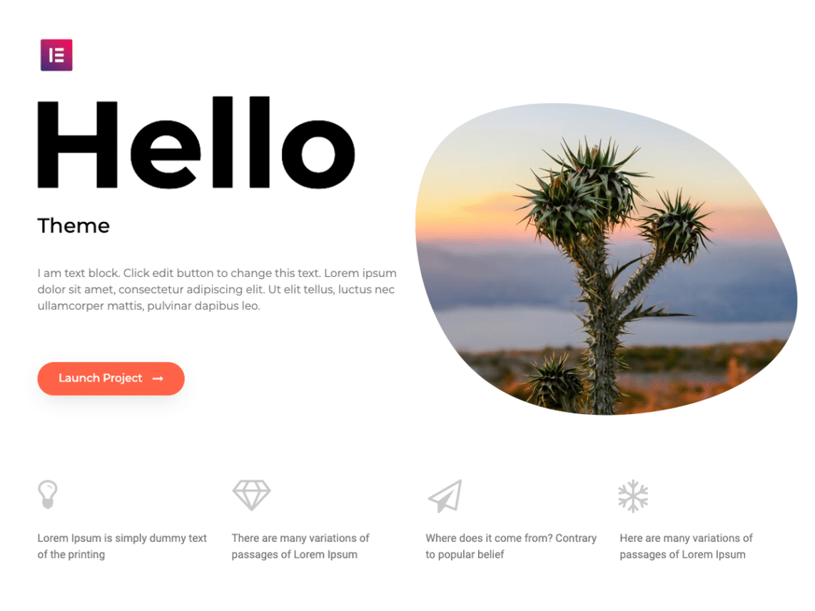 WordPress theme hello-elementor