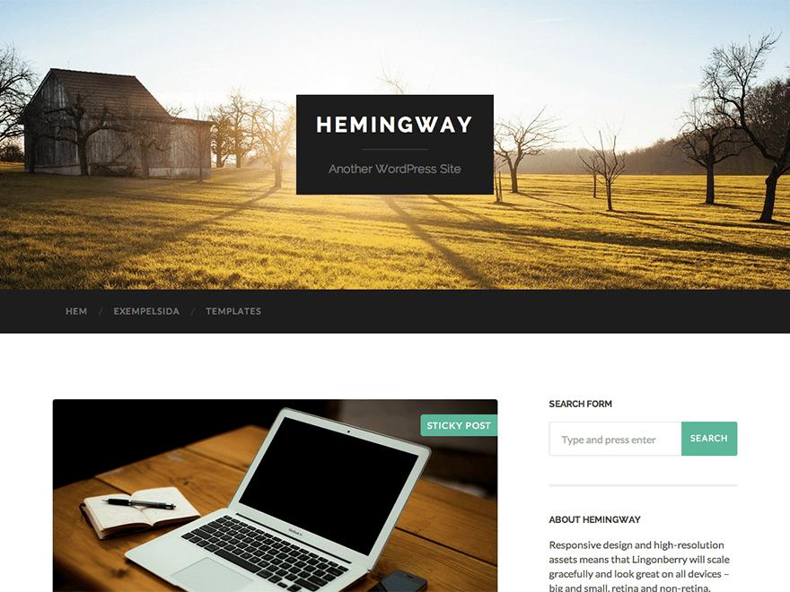 WordPress theme hemingway