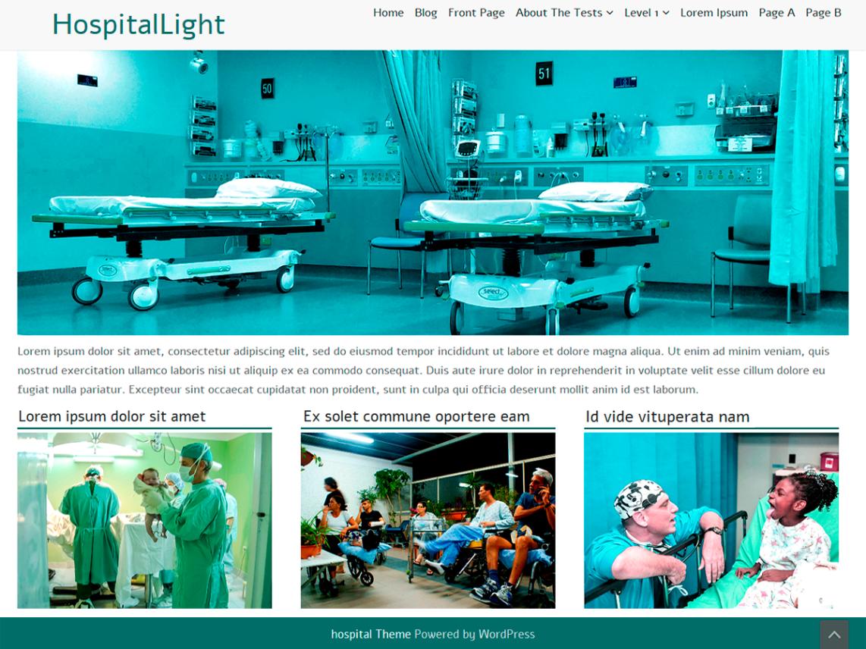 WordPress theme hospitallight