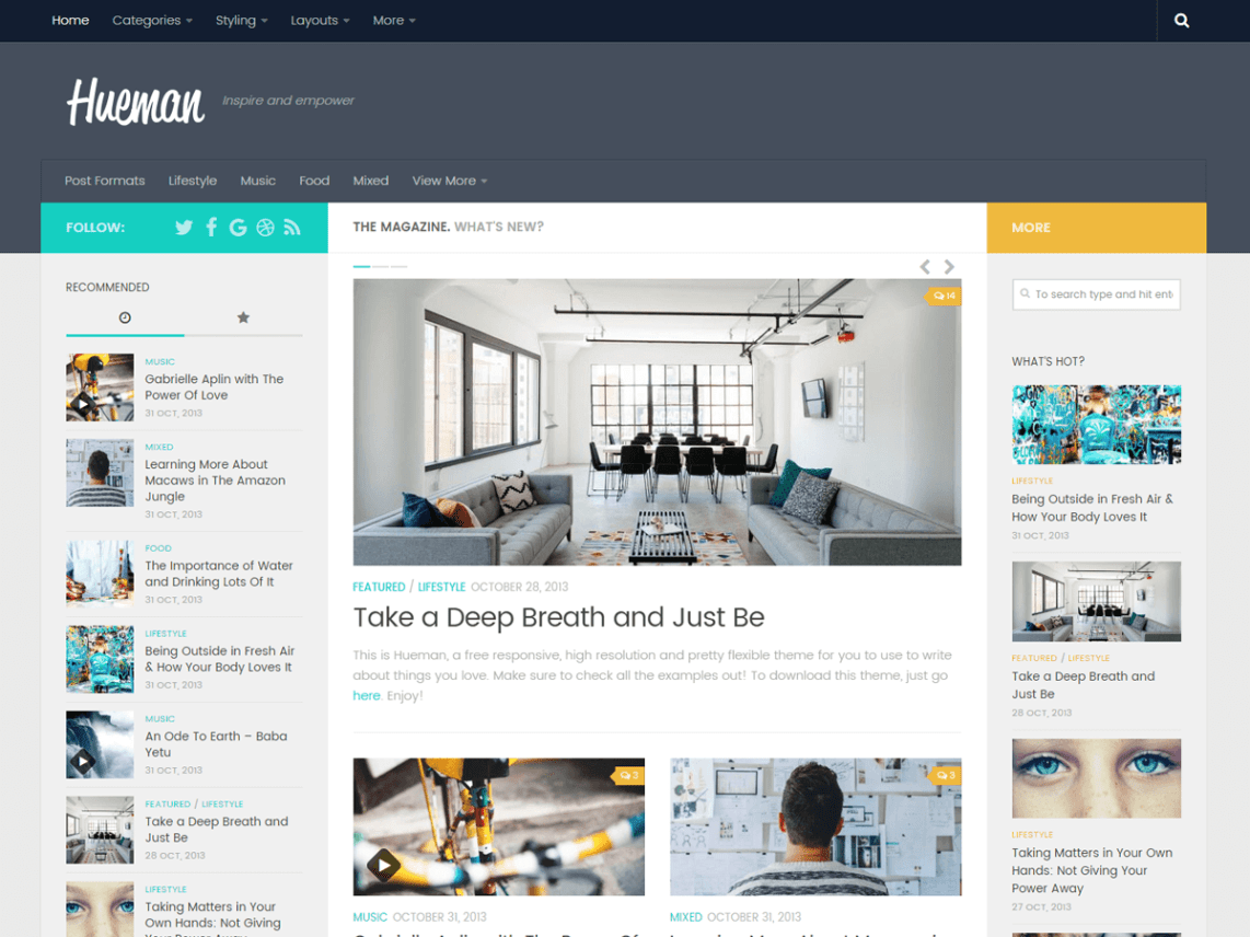 WordPress theme hueman