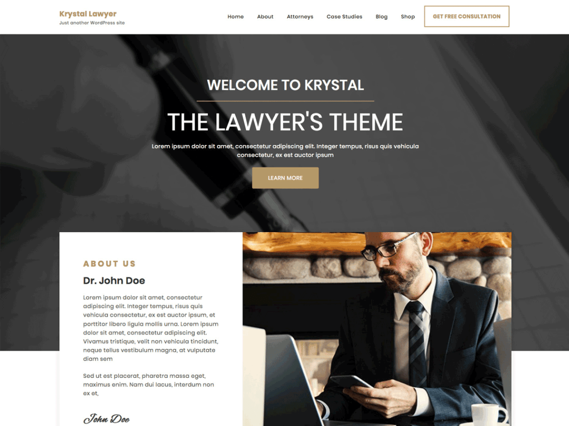 WordPress Theme Krystal Lawyer
