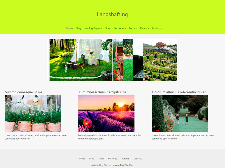 WordPress theme landshafting
