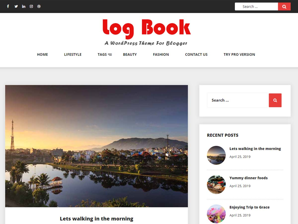 WordPress theme log-book