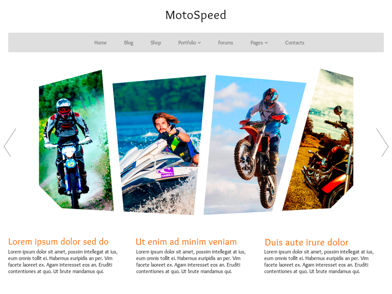 WordPress theme motospeed