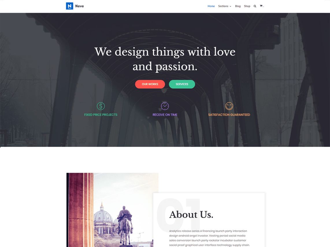 WordPress theme neve