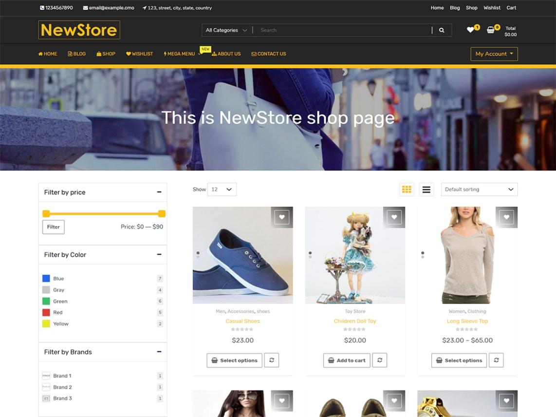 WordPress Theme NewShop eCommerce