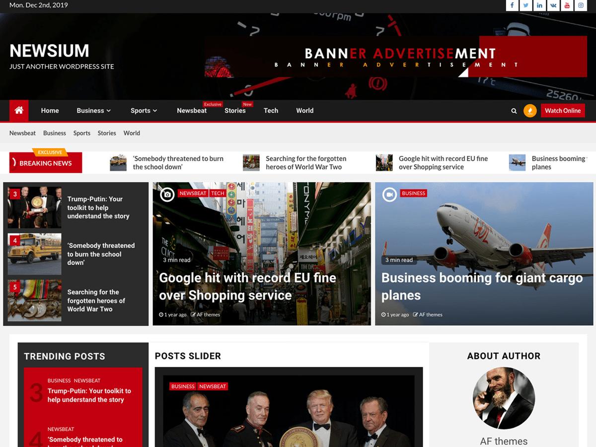 WordPress theme newsium