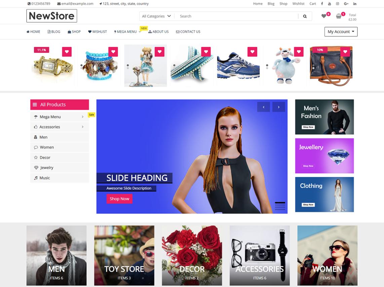 WordPress theme newstore