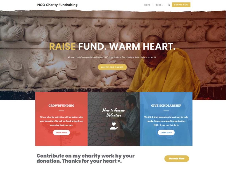 WordPress theme ngo-charity-fundraising