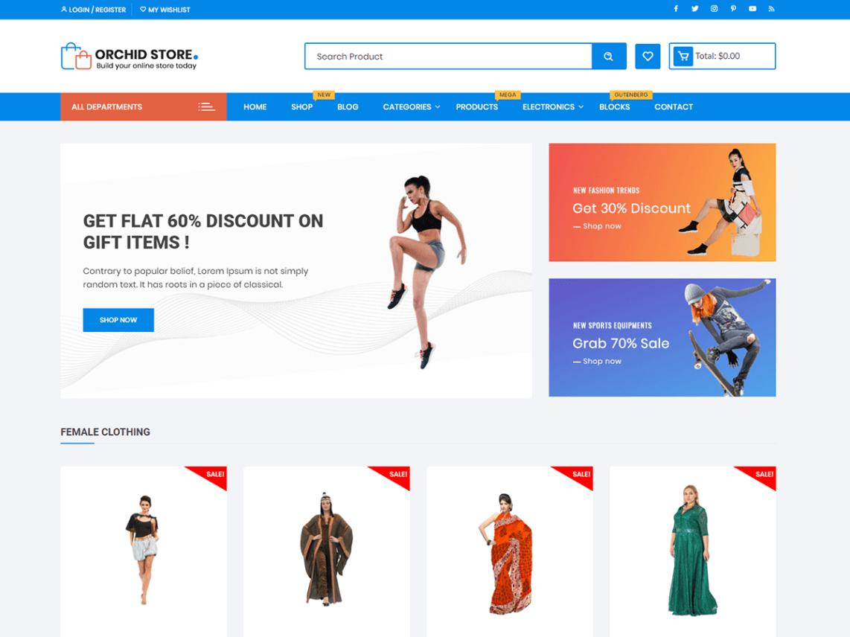 WordPress theme orchid-store