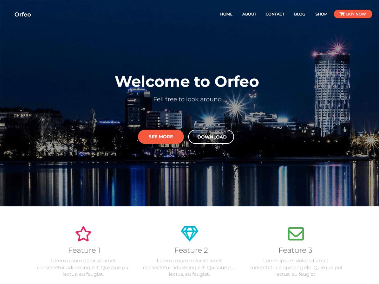 WordPress theme orfeo