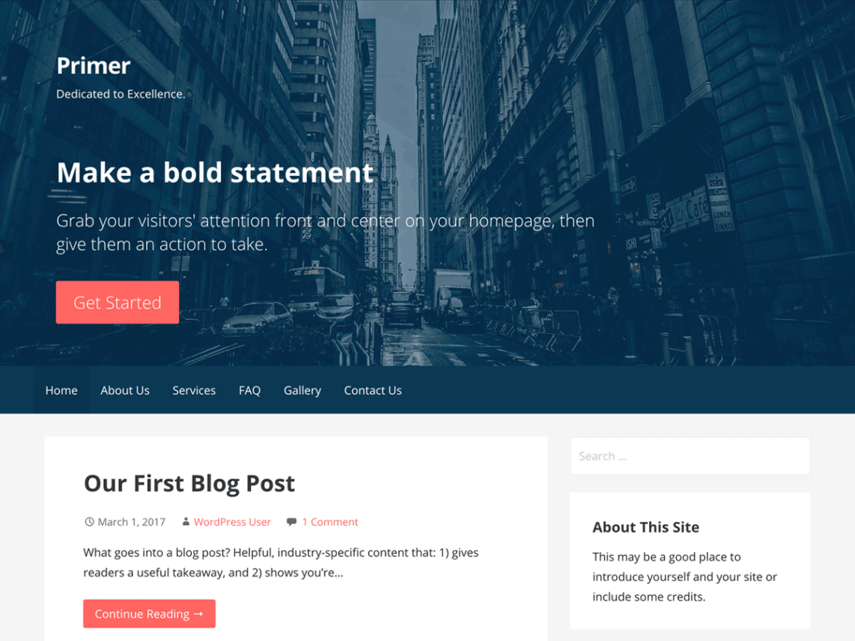 WordPress theme primer