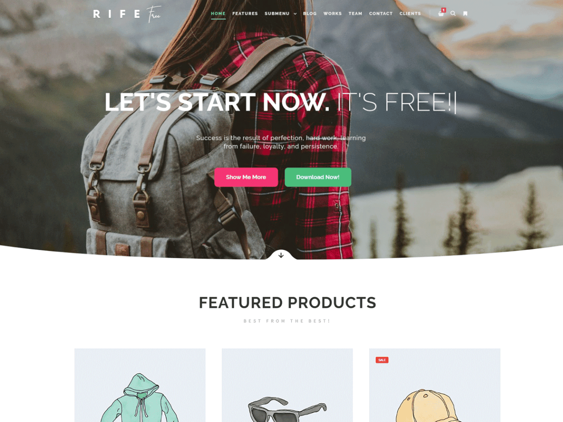 WordPress theme rife-free