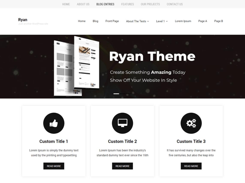 WordPress Theme Ryan Minimal