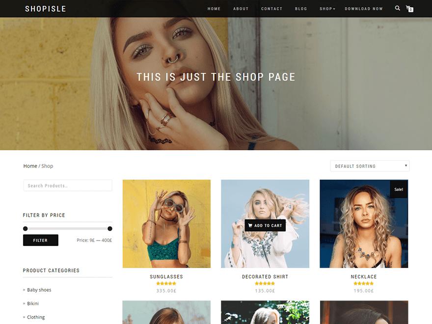 WordPress theme shop-isle