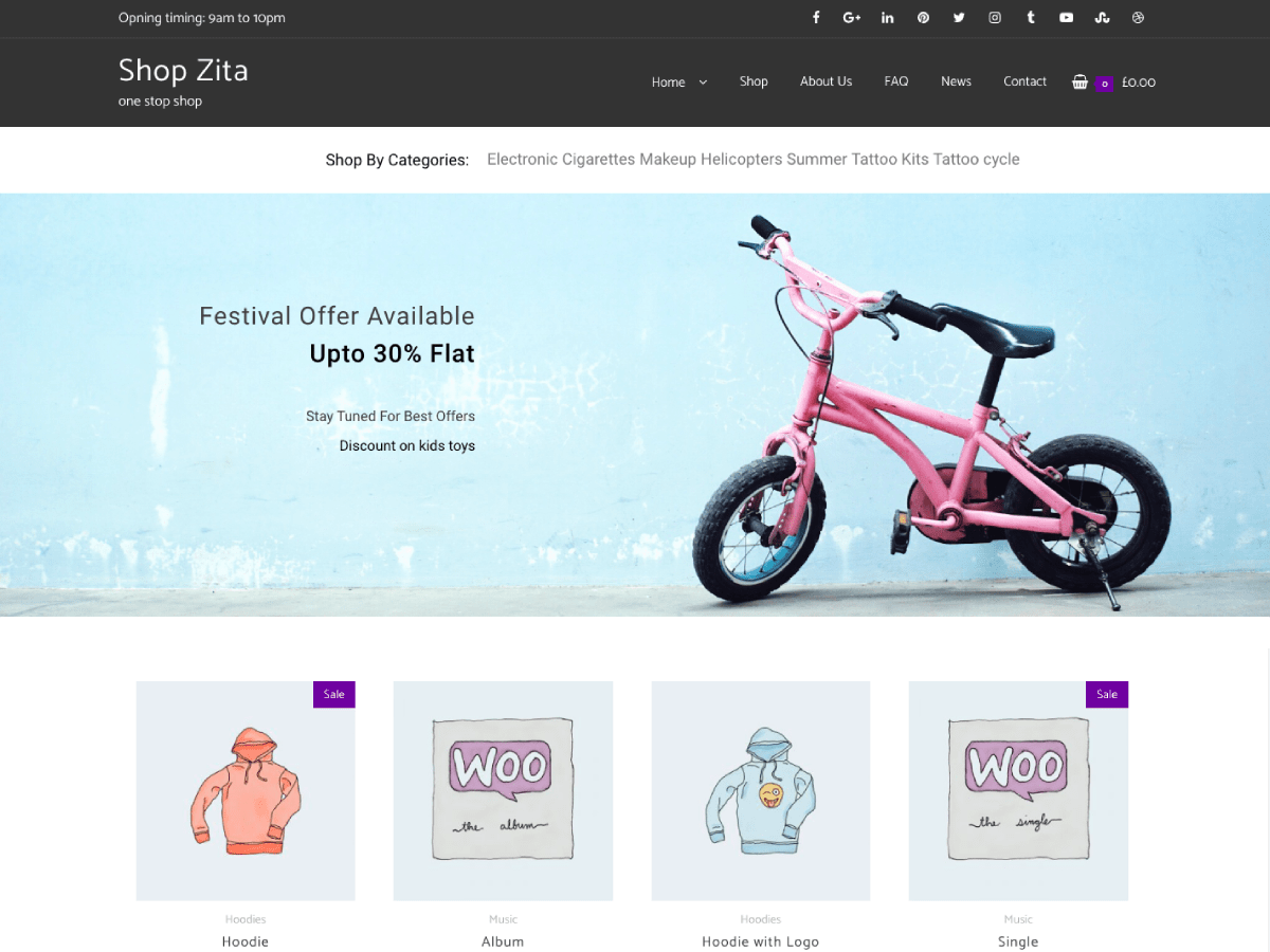 WordPress Theme Shop Zita