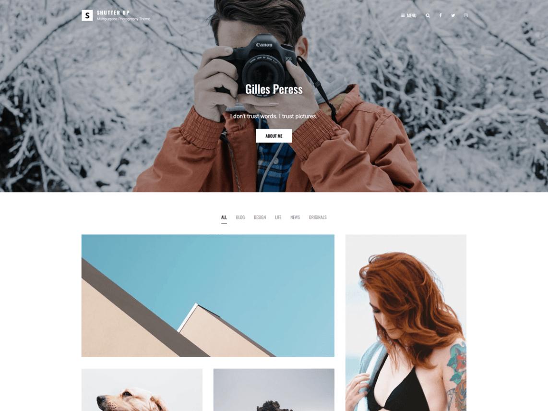 WordPress theme shutter-up