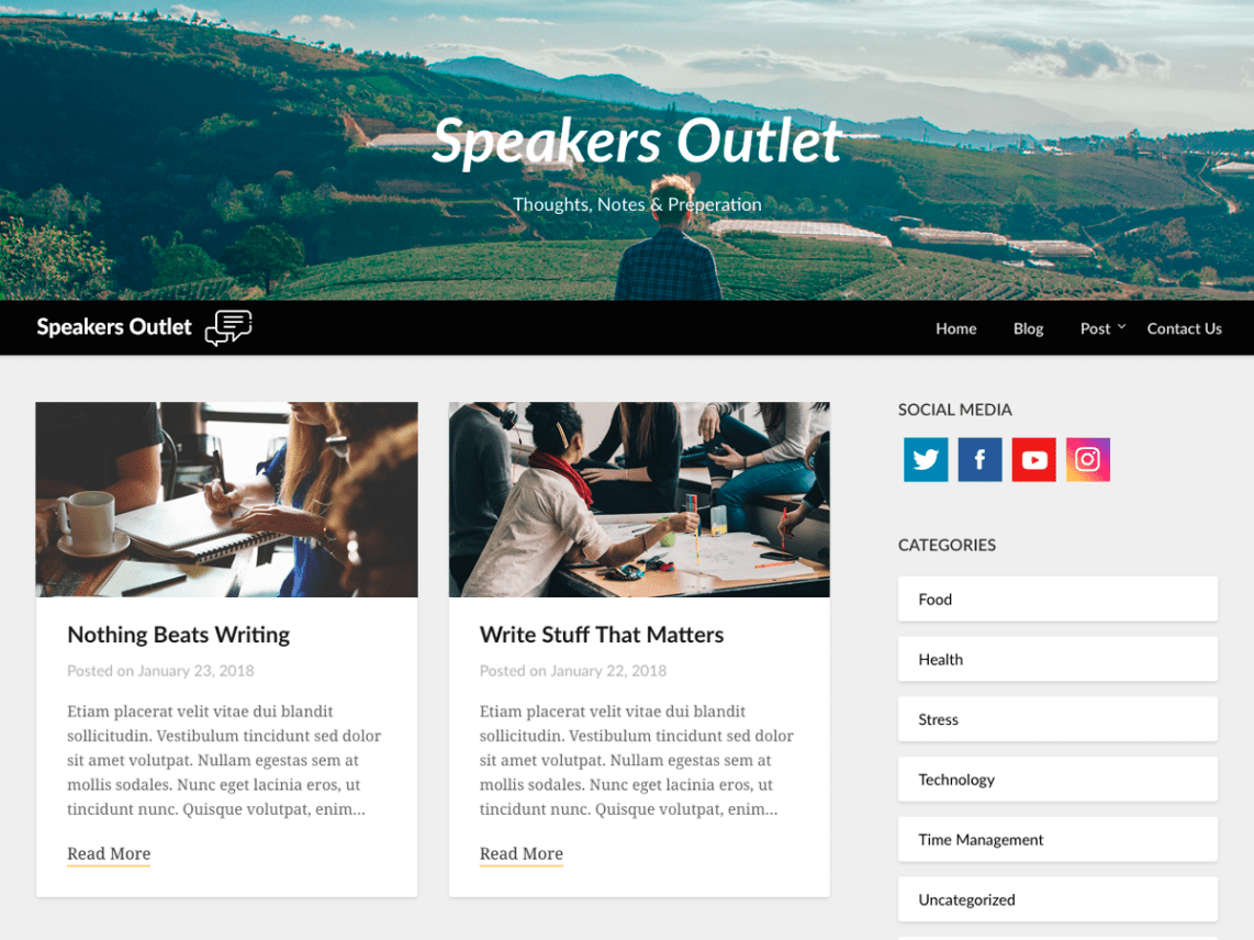 WordPress theme speakers-outlet