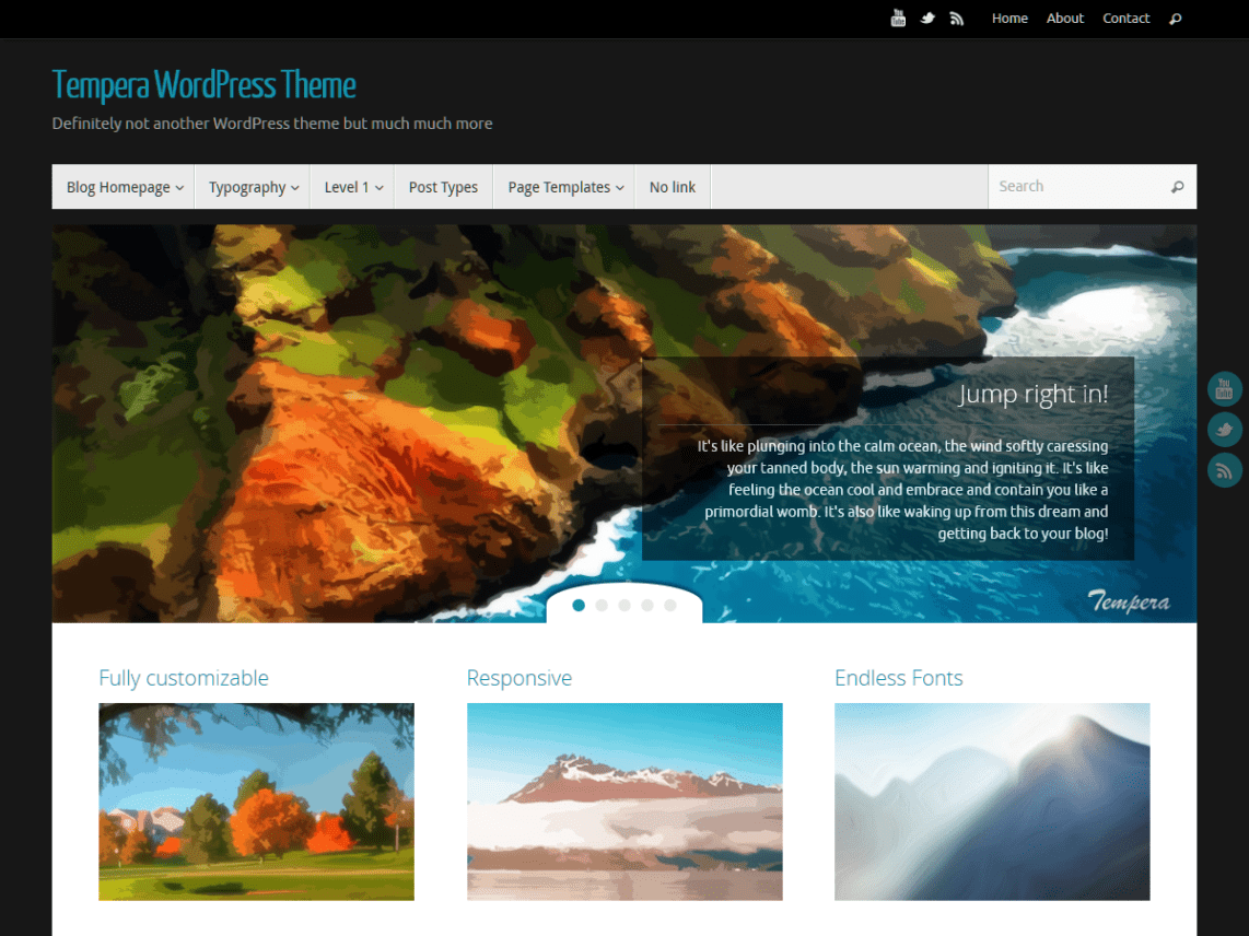WordPress theme tempera