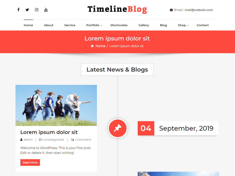 WordPress Theme TimelineBlog