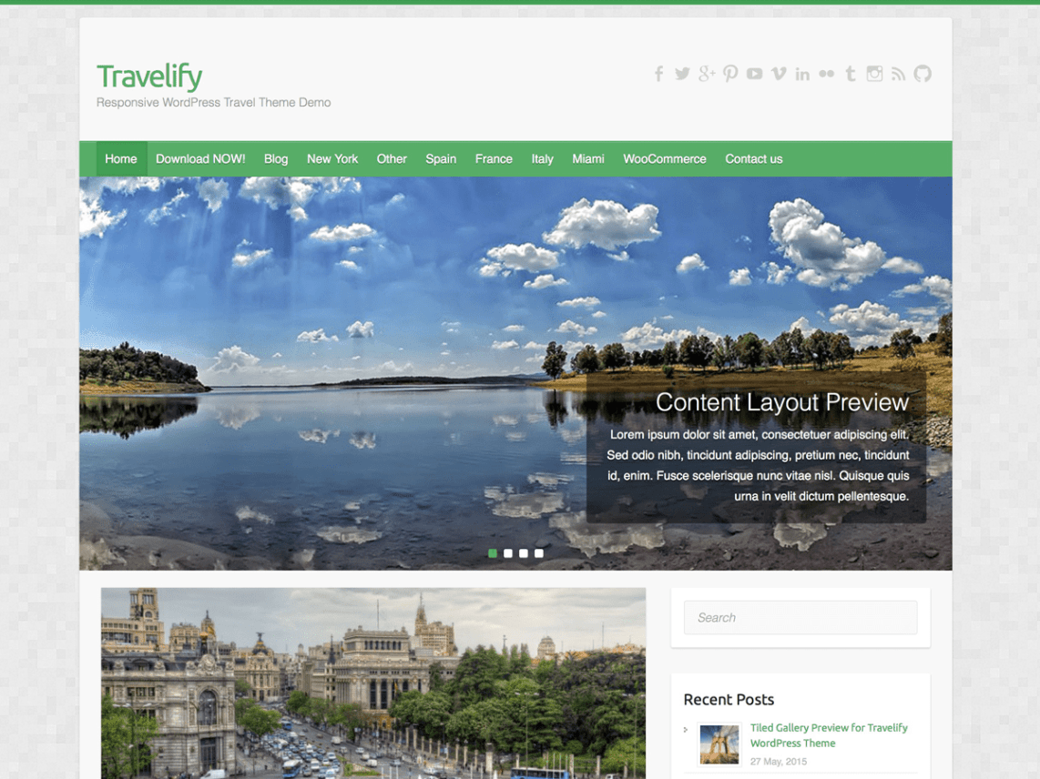 WordPress theme travelify