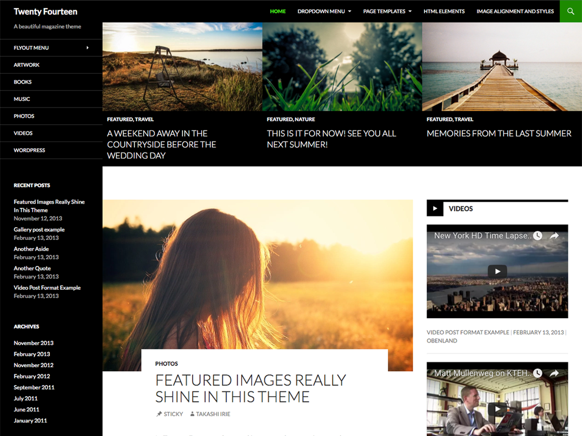 WordPress theme twentyfourteen