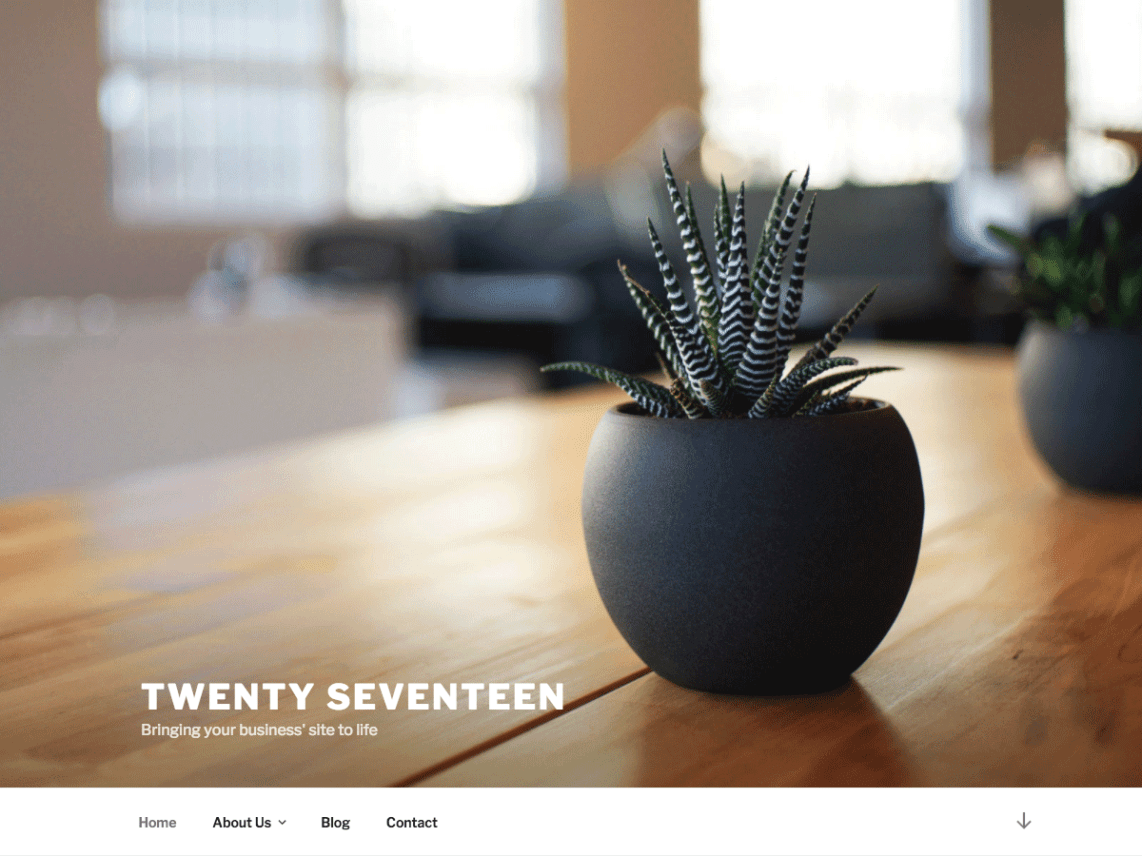 WordPress theme twentyseventeen