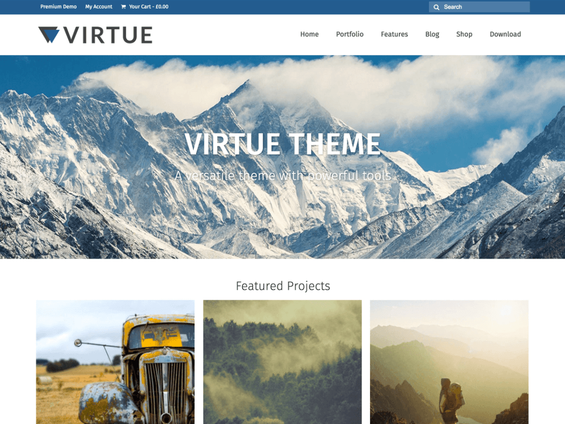 WordPress theme virtue