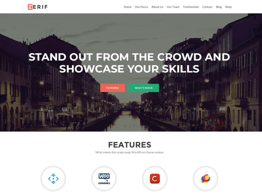 WordPress theme zerif-lite